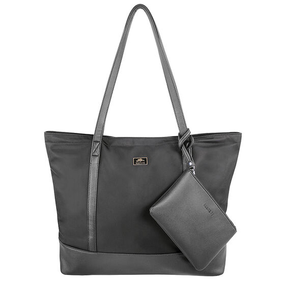 Roots Nylon Tote with Wristlet - Black