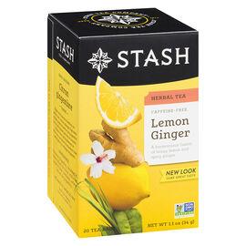 Stash Lemon Ginger Herbal Tea - 20's