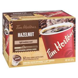 Tim Hortons Hazelnut K-Cup Coffee - Light Medium Roast - 12 Servings