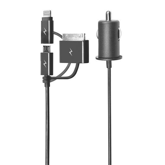 Logiix Powerlite 3-in-1 Charging Cable - Black - LGX11874