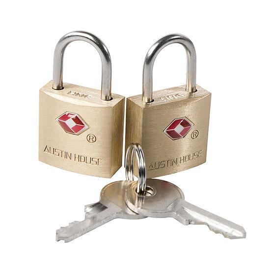 Austin House Brass Mini Lock - 2 pack - AH21BR91