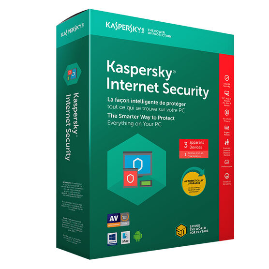 Kaspersky Internet Security 2018 - 3 Devices/1 Year