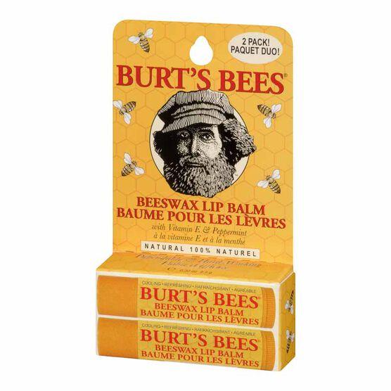 Burt's Bees Beeswax Lip Balm - 2 x 4.25g