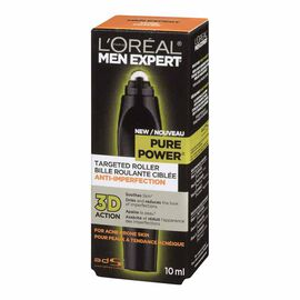 L'Oreal Men Expert Targeted Roller for Acne Prone Skin - Pure Power - 10ml