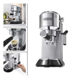 DeLonghi 15 Bar Espresso Maker - Stainless Steel - EC680M