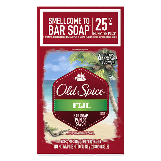 Old Spice Fresher Collection Soap - Fiji - 6 x 141g
