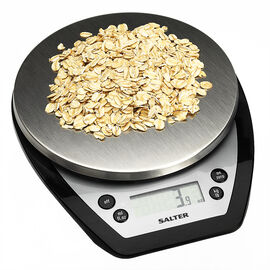 Salter 5kg Aquatronic Kitchen Scale - Black - 1020BKSSEF
