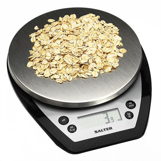 Salter 5kg Aquatronic Kitchen Scale - Black - 1020BKSSEF