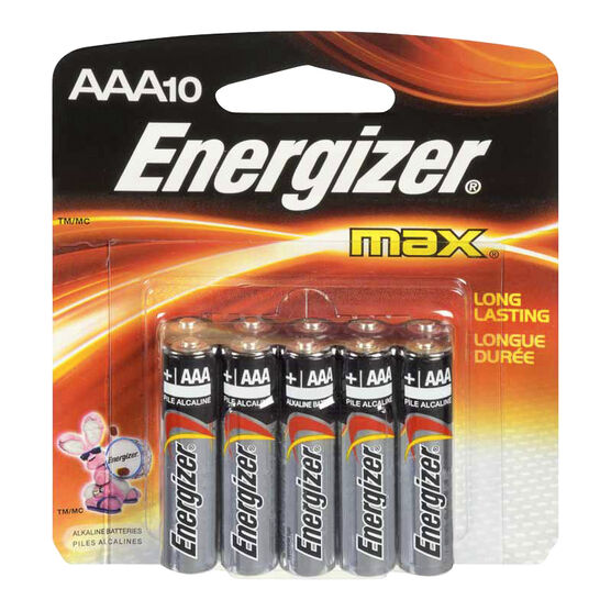Energizer Max AAA Batteries - 10 pack