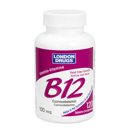 London Drugs Vitamin B12 - 100mcg - 120's