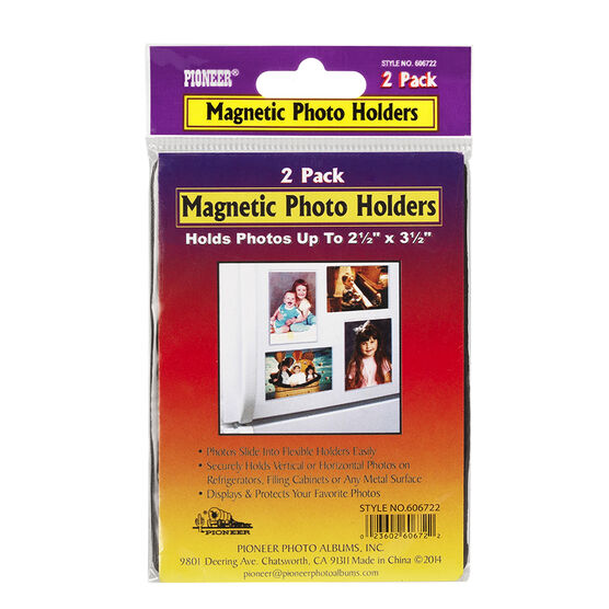 Pioneer Magnetic 2.5 x 3.5in Photo Holder - 2 pack - 2.5x3.5in