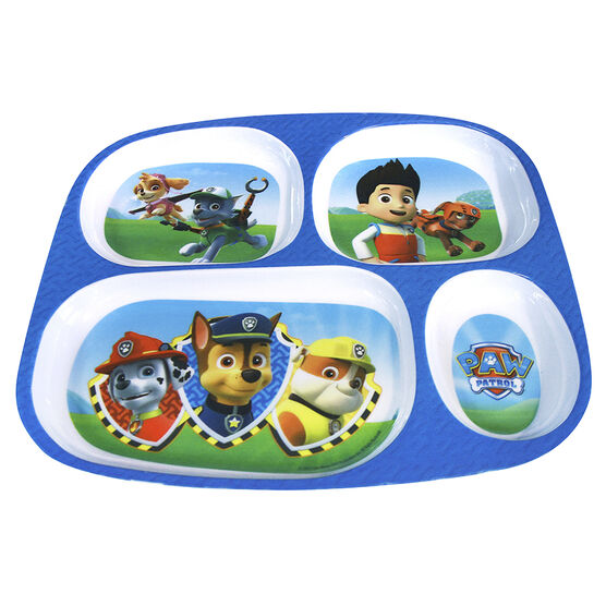 Paw Patrol Boy's Melamine Plate With Dividers