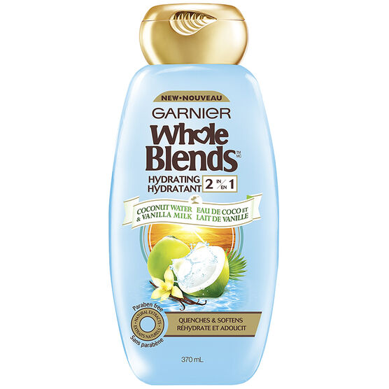 Garnier Whole Blends Hydrating 2 in 1 - Coconut Water & Vanilla Milk - 370ml
