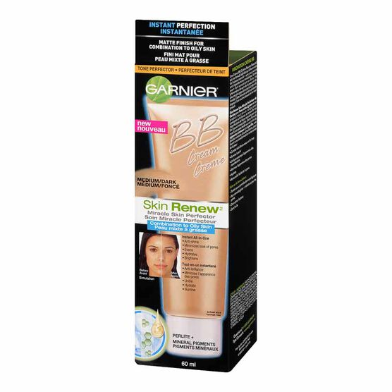 Garnier Skin Renew BB Cream Miracle Skin Perfector for Combination to Oily Skin - Medium/Dark - 60ml