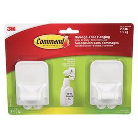 3M Command Spray Bottle Hanger - White - 2 pack