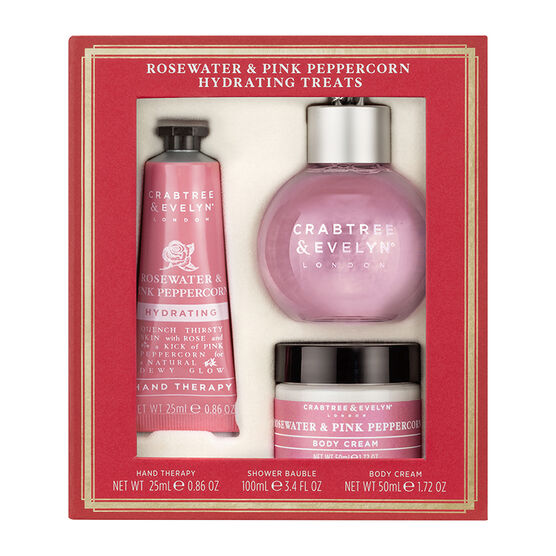 Crabtree & Evelyn Rosewater & Pink Peppercorn Hydrating Treats - 3 piece
