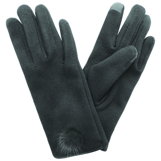 Simon Chang Ladies Gloves with PomPom - Assorted
