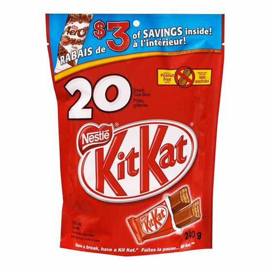 Nestle KitKat Snack Size Bars - 20 pieces/240g