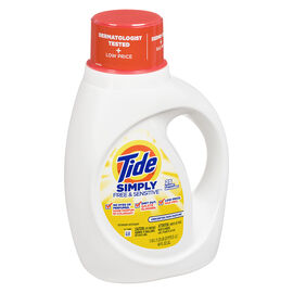 Tide Simply Free & Sensitive Laundry Detergent - Unscented - 1.18L