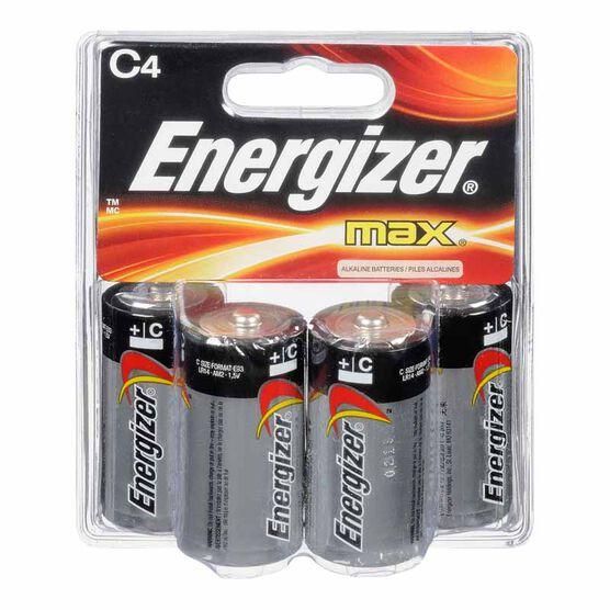 Energizer Max C Batteries - 4 pack