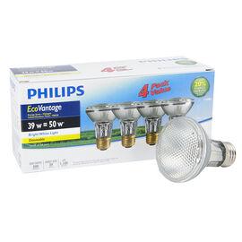 Philips Halogen Par20 Flood Light - Bright White - 4 pack