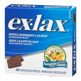 Ex-Lax Chocolated - 18's