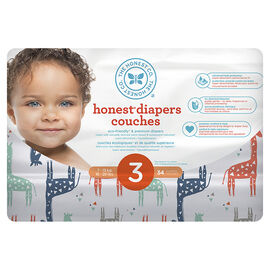 The Honest Company Honest Diapers - Size 3 - 34s - Giraffe Print