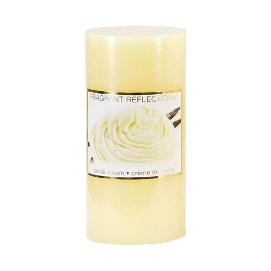 Fragrant Reflections Pillar Candle - Vanilla Cream - 6inch