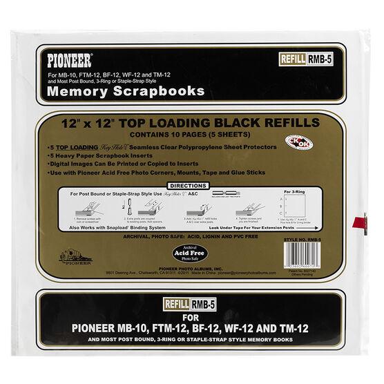 Pioneer Scrapbook Refill 12x12 - Black - RMB-5