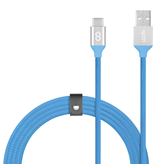 Logiix Piston Connect Braided USB-C Cable - Turquoise - LGX12621