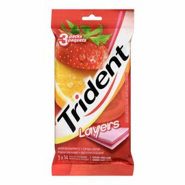 Trident Layers Gum - Wild Strawberry and Tangy Citrus - 3 x 14 pieces