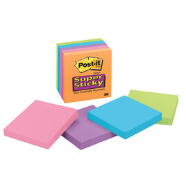3M Post-it Notes Super Sticky - Electric Glow - 3 x 3inch - 5 pads/pack