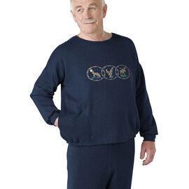 Silvert's Men's Open Back Fleece Sweatshirt - Small - XL