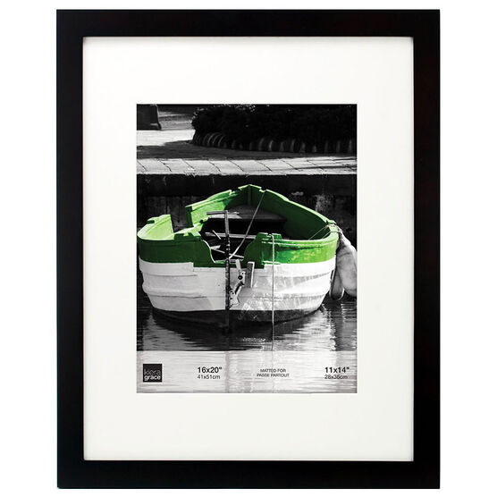 KG Langford Black Wood Frame - 16x20-Inch Matted for 11x14-Inch