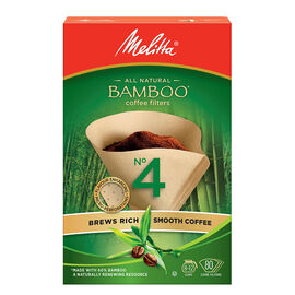 Melitta Bamboo No.4 Cone Filters - 80 pack