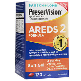 Bausch & Lomb PreserVision Areds 2 Eye Vitamins - 120's