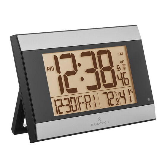 Marathon Atomic Digital Clock - Grey - CL030052GG