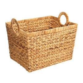 London Drugs Water Hyacinth Rectangular Basket with Round Handles