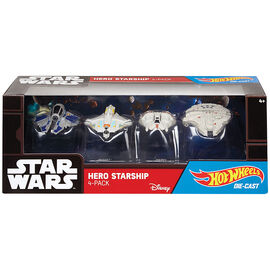Hot Wheels Star Wars Hero Starship - 4 Pack