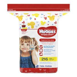 Huggies Simply Clean Wipes - Refills - 216's