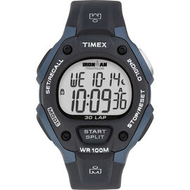 Timex Ironman Watch - Black/Blue - T5H591GP