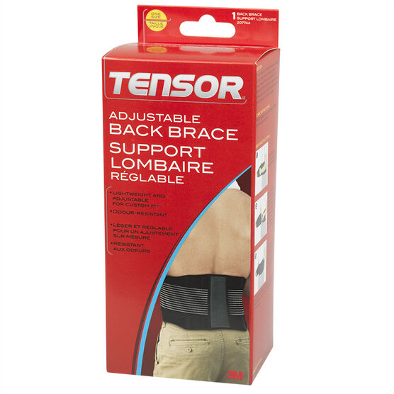 Tensor Adjustable Back Brace - One Size