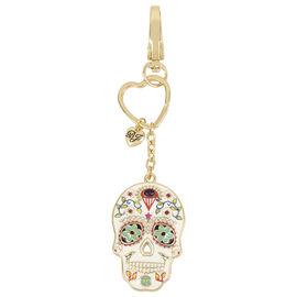 Betsey Johnson Skull FOB Key Chain Ring