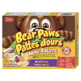 Dare Bear Paws Mixed Fruit - 6 pack
