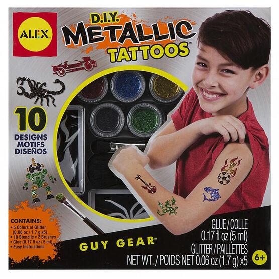 Alex D.I.Y. Metallic Tattoos - Guy Gear