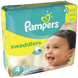 Pampers Swaddlers Diapers - Size 4 - 23's