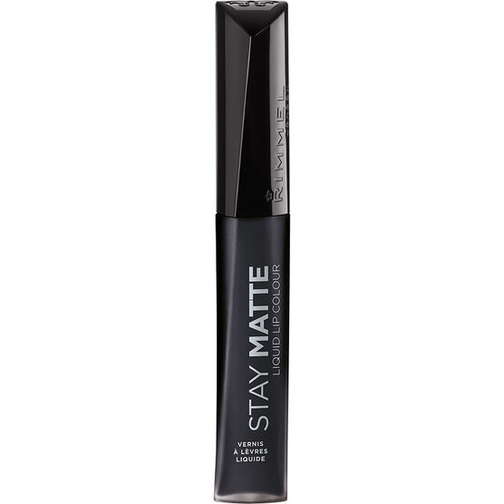 Rimmel Stay Matte Liquid Lip Colour - Pitch Black