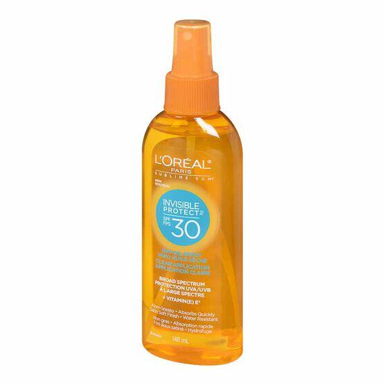 L'Oreal Sublime Sun Invisible Protect Dry Oil Spray - SPF 30 - 148ml