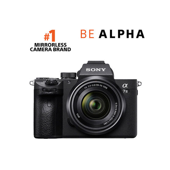 PRE-ORDER: Sony a7 III Body with 28-70mm Lens - Black - ILCE7M3K/B