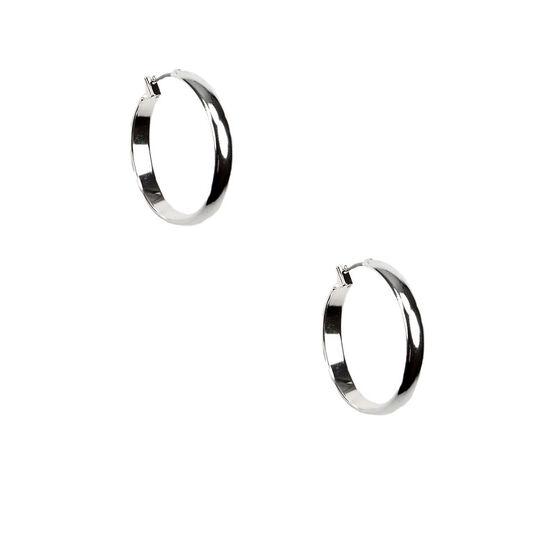 Anne Klein Silver Hoop Earrings - Silver